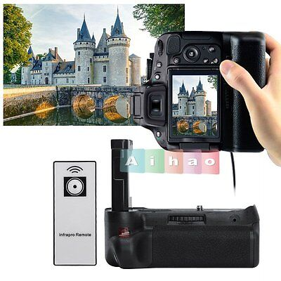 Vertical Battery Grip Holder with Remote Control For Nikon D5500 Camera【UK】