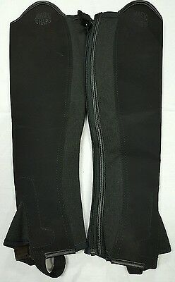 Black & Brown Synthetic Gaiters top quality Inside out chaps size MT 8