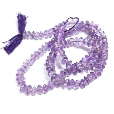 Strand Of 100+ Lilac Cape Amethyst Approx 3-5mm Handcut Rondelle Beads DW1015