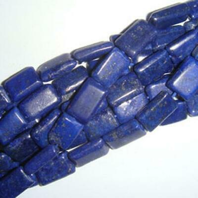 32+ Blue Lapis Lazuli Approx 7 x 10mm-7 x 12mm Handcut Rectangle Beads DW1265