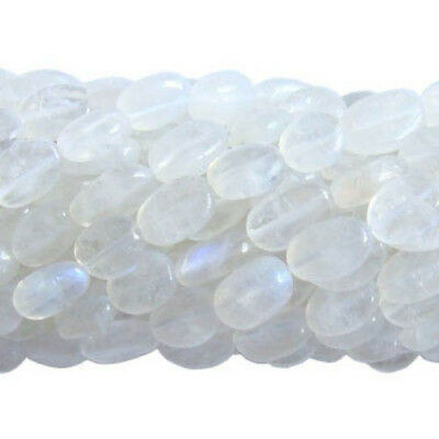 30+ White Rainbow Moonstone Approx 5 x 7mm-7 x 9mm Handcut Oval Beads DW1685