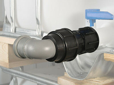 """IBC tank container adapter with 2"""" (50 mm) pipe connector #1400"""