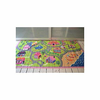Girls, Boys road map play rugs mats. 100x190cm. large size, Large rug