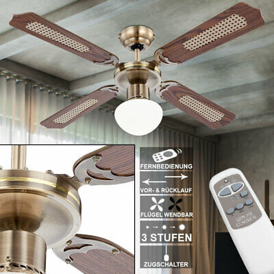Ceiling fan pull switch remote control lighting cooler Living bed dining room