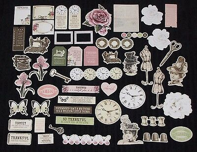 Kaisercraft 'MADEMOISELLE' Collectables Die Cut Shapes Vintage NEW KAISER