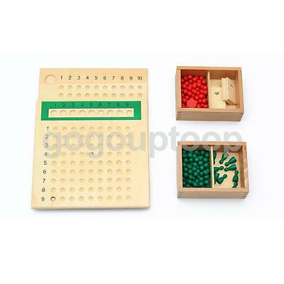 Montessori Teaching Material Multiply & Divide Boards Boys Girls Wooden Toys