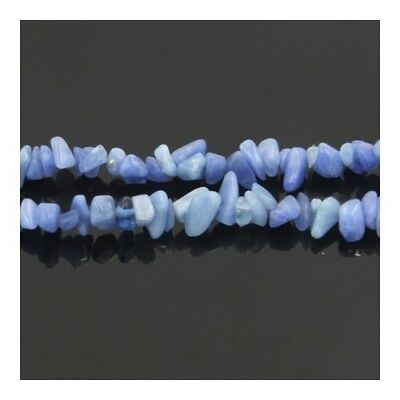 Long Strand of 240+ Blue Aventurine 5-8mm Chip Beads Y02140