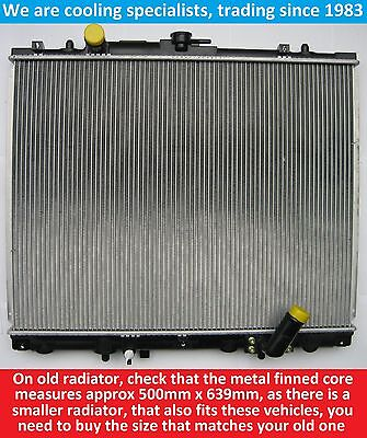 Brand New Radiator Mitsubishi L200 2001 To 2006/pajero/shogun Sport Turbo Diesel