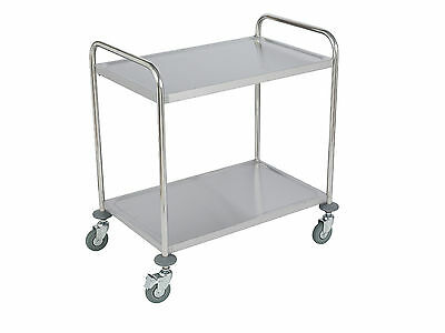 Stainless Steel Catering Trolley 2 Tier (Large)