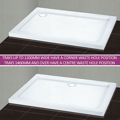 Slimline Rectangle/Square Stone Shower Tray with Free Waste for Shower Enclosure