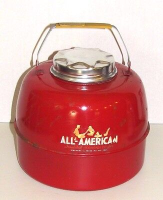 VINTAGE Cooler Ceramic Insulated All American Brand USA Carrying Handle