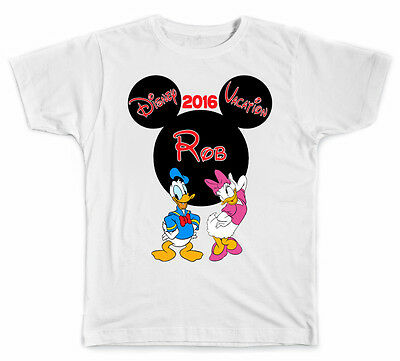 Personalized Disney Vacation Mickey Head With Daisy And Donald Duck T Shirt