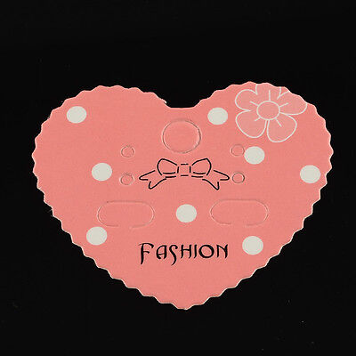 Wholesale 1000pcs Heart Shape Earring Display Cards for Jewelry Package 42x50mm