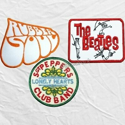 Set The Beatles Embroidered Patches Rubber Soul A Hard Day's Night Sgt Peppers