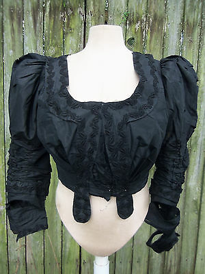 Antique Edwardian Large Size Ball Gown Bodice For Study C.1905 Victorian