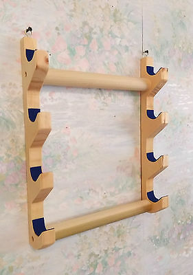 Native American Flute - 4 Flute Wall Rack - hand made - protect your flutes