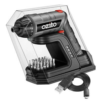 New Ozito 3.6V Screwdriver Torch with Charging Base