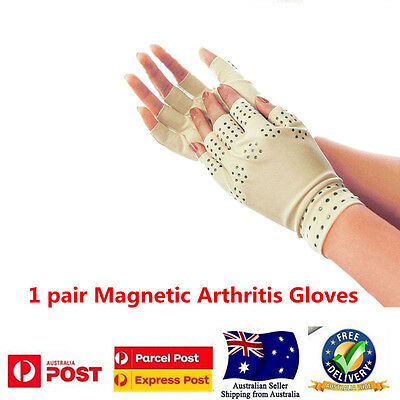 1 Pair Magnetic Therapy Support Gloves Support Pain Relief Arthritis Compression