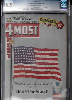 4MOST #3 (SUMMER 1942, NOVELTY PRESS) CGC 6.5 * Patriotic Flag cover* DICK COLE