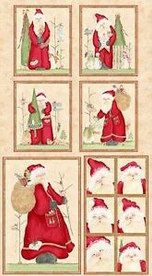 Here Comes Santa Patchwork Fabric Panel 23308 CHRISTMAS