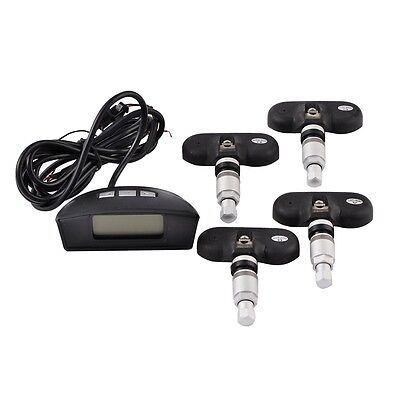 Car TPMS Transmitter Tire Pressure Monitoring System 4 Sensors LCD Display New