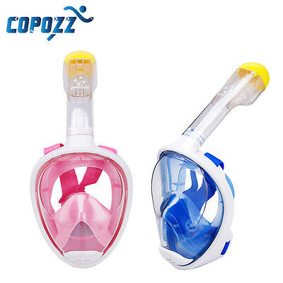 COPOZZ Full Face Mask Snorkeling Scuba Diving Swimming Dry Snorkel Underwater