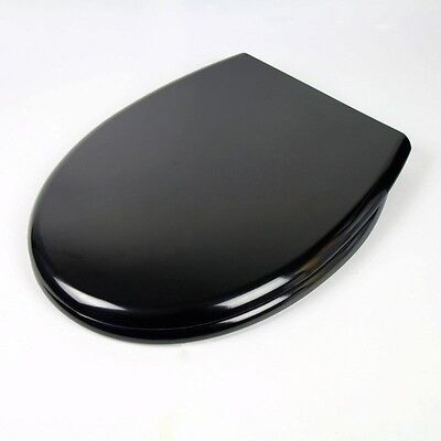 New Black Toilet Seat Soft Close | Heavy Duty | Top Fixing Hinge | Hotel Quality