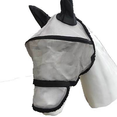 "EDT Full Face ""Space"" Protection Horse Fly Mask With Teddy Soft Anti-Rub Lining"