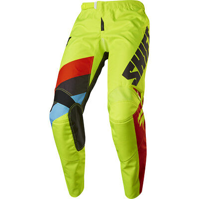 Shift 2017 NEW Kids Mx Gear WHIT3 Label Tarmac FLO Yellow Youth Motocross Pants