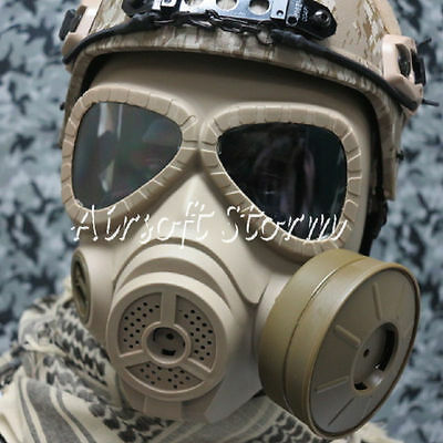 Outdoor Airsoft Paintball Wargame Gear M04 Dummy Gas Protection Mask Desert Tan