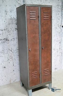 Metall-Spind Loft Möbel Schrank Steel Locker Industriedesign shabby rust look