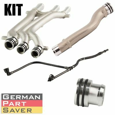 New Coolant Pipe Repair Upgrade Kit 4 PIECES for  Porsche Cayenne Turbo S