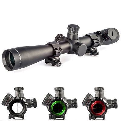 Hunting 3.5-10x40mm M1 Red and Green Illuminated Mil-dot Rifle Scope Mounts