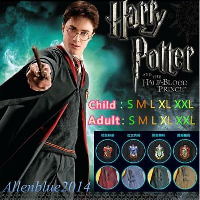 Harry Potter Costumes Cosplay Robe Cloak Uniform Gryffindor/Slytherin/Hufflepuff