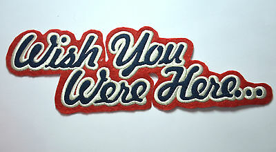 WISH YOU WERE HERE  FLOYD  Embroidered Sew Iron On Cloth Patch Badge APPLIQUE