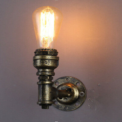 Industrial Style Wall Light Vintage Retro Steampunk Wall Sconce Lamp Pipe Retro ?14.49 ...