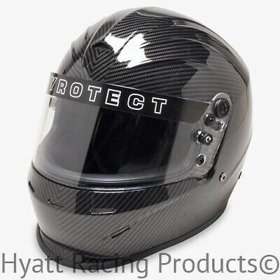 Pyrotect Pro Sport Auto Racing Helmet SA2015 - Carbon Graphic (Free Bag)