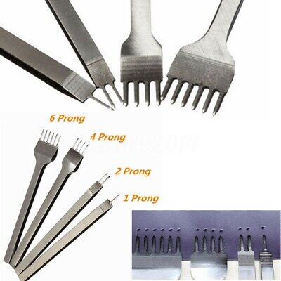 3/5/6mm Leather Craft Tool Hole Punches Lacing Stitching Punch 1/2/4/6 Prong Set