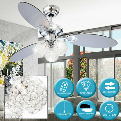 Ceiling fan with lighting remote control and pull switch lamp light air cooler