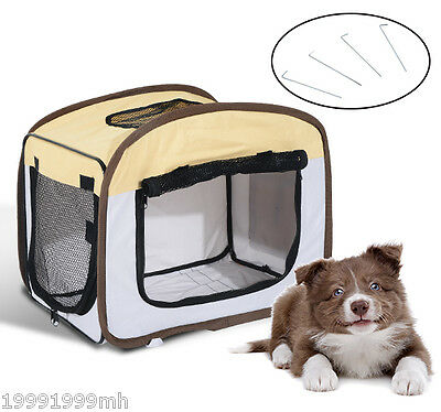 PawHut Foldable Dog Crate Soft Sided Pet Carrier Training Kennel Portable House