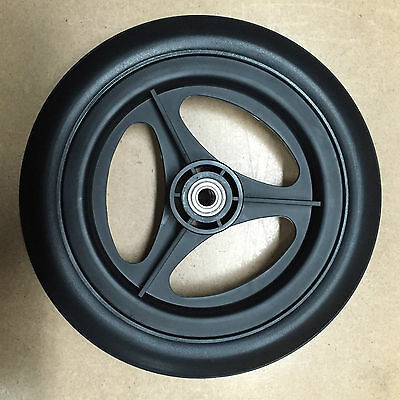 "LOT OF 14 - 11""  BLACK Rubber Tread Garbage / Trash/ industrial  Cart Wheels"