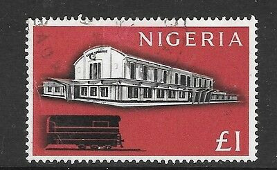 Nigeria Sg101 1961 £1 Black & Carmine-Red Fine Used