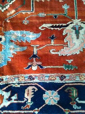 Hand Knotted Caucasian Area Rug Hand-Spun Virgin Wool Vegetable Dyes 9x9