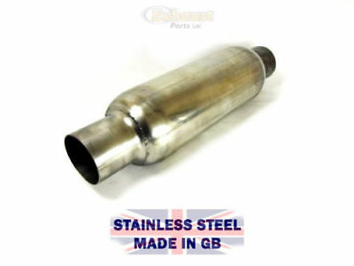Stainless Exhaust Muffler V8 Kit Car, Classic, Hot Rod  Spiral Perf Tube Bore