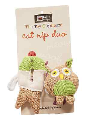 "DANISH DESIGN FIDO AND FISH FRIEND SMALL 4"" PLUSH CATNIP CAT TOY kitty soft toy"