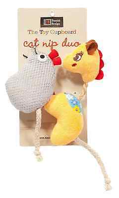 """DANISH DESIGN GRACIE AND MILLY SMALL DUO 4"""" PLUSH CATNIP CAT TOY kitty soft toy"""