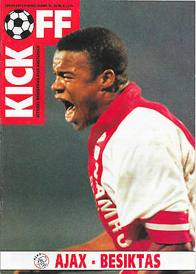 Ajax v Besiktas, 1993/94 - Cup Winners' Cup 2nd Round Match Programme