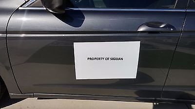 "20""x12"" Blank Car Magnet Sign 30 mil (2 SHEETS)."