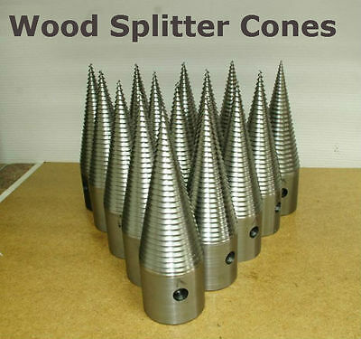 Log Wood Splitter Auger Gravely Screw Cones 70 mm or 80 mm X 250mm Quality Steel
