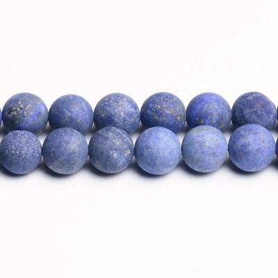 Strand Of 45+ Blue Lapis Lazuli 8mm Frosted Round Beads CB31196-3